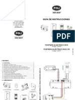 5995114900 Guía Instrucciones Portero Eléctrico 3010