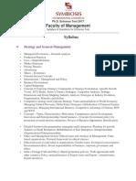 PHD Syllabu7s HR & Management
