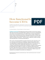 How Functional Leaders Become CEOs