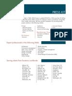 - SSOE Press Kit 2015
