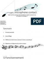projet microphone contact