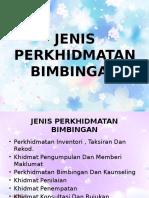 JENIS PERKHIDMATAN BIMBINGAN EDU3073