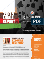 Burger King 2015 Annual Report
