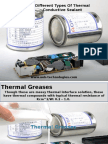 Different Types of Thermal Conductive Sealant