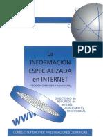 La Información Especializada en Internet. CSIC