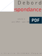 Debord - Correspondance Volume 1 (Juin 1957 - Août 1960)