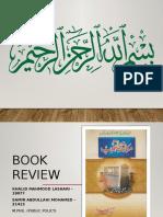 Book Review - Khalid Lashari - 19077