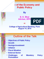 State of Economy and Public Policy – Presentation by Dr. B.K. Bhoi