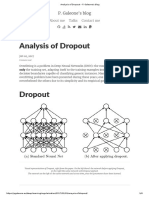 Analysis of Dropout – P