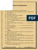 PIEAS M.S 2014 Questions