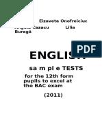 Teste Bac 2012