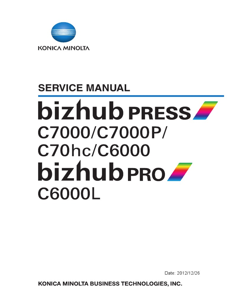 bizhub_PRESS_C7000_C7000P_C70hc_C6000_PRO_C6000L_E_sm_v4.1 | Specification  (Technical Standard) | Reliability Engineering