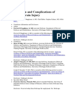 Classification and Complications of Traumatic Brain Injury