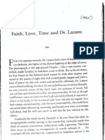 Faith, Love, Time and Dr. Lazaro - Gregorio Brillantes