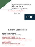 IGCSE 14 Momentum