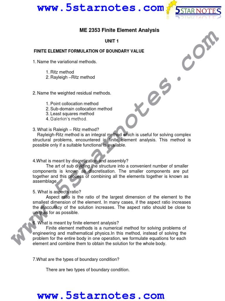 FeaLect Note5   Finite Element Method   Mechanics