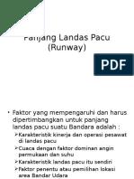 Panjang Landas Pacu (Runway) Minggu Ke-7