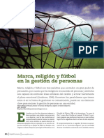 Capital Humano Marca, Futbol y Religion Abril 2015