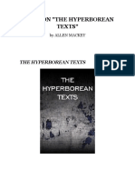 Notes On The 'Hyperborean Texts' by Allen Mackey