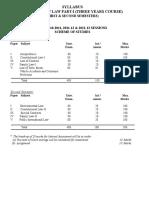 LLB (3 Years Course)  Part I (Semester I & II).doc
