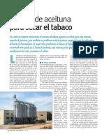 Huesos de aceituna para secar el tabaco (Energías Renovables, noviembre 10)