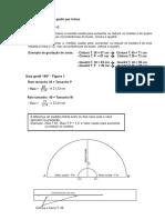 Gradação de Godê - Letras - 180º e 90º