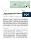 The need for transdisciplinary social-ecological biodiversity research – More a lack of knowledge rather than a lack of action. Isoe Policy Brief No. 5
