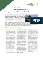 Wege zu einer nachhaltigen und exportstarken Wasserwirtschaft. ISOE Policy Brief No. 4