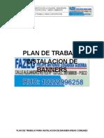 Plan de Trabajo de Instalacion de de Banners en Areas Comunes 20-12-2016