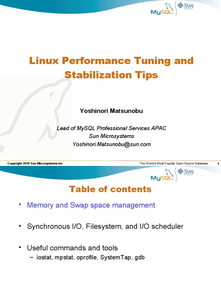 Linux Performance Tuning and Stabilization Tips pdf | File