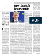 EU here to support Uganda's growth - Kristian Shmidt