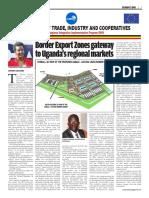 Border Export Zones gateway to Uganda's regional markets
