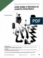RECOMENDAÇÕES SOBRE O PROCESSO DE PLANEJAMENTO ESTRATÉGICO