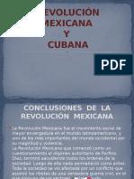 Revolucion Cubana y Mexicana
