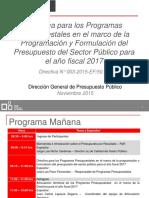 Presupuesto Por Resultados ,MEF, 2017