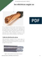Tipos de Cables Eléctricos Según Su Aplicación