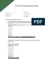 TUTORIAL Dalam Penyelesaian Soal Integral Menggunakan Maple