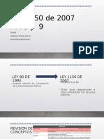 Ley 1150 de 2007 Colombia