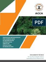 Protocolos metodológicos para generar mapa de deforestación histórica en el ámbito del Proyecto MAT en Madre de Dios