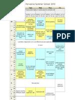 Pervasive Media Summer School 2010 Schedule