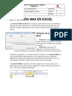 La Función Max y Min en Excel