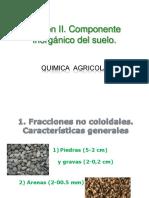 Quimica Agricola . Sesion 2. Componente Inorgánico Del Suelo
