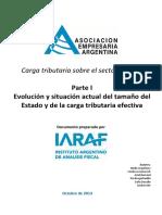 AEA - Tamaño Del Estado y Carga Tributaria