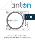 User Manual t55 Usb Spanish