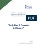 Guía Boliviana de Construcción de Edificaciones