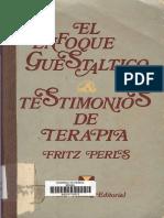 Perls Fritz - El Enfoque Guestaltico Testimonios de Terapia