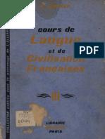 Cours de Langue et de Civilisation Françaises III