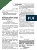 Modifican Plan de Desarrollo Urbano PDU 2013 - 2022 de la Municipalidad Provincial de Huaura respecto a la zonificación del Sector del Barrio de Amay ubicado en el distrito de Huacho