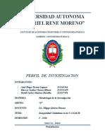INVESTIGACION INSEGURIDAD EN LA UAGRM FACULTAD DE CONTADURIA PUBLICA