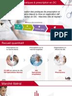 VIDAL La Prescription en DC Vue Par 2 053 Professionnels de Santé en France Mai 2017
